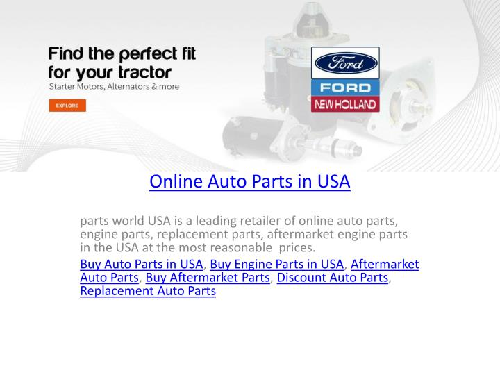 PPT - Online Auto Parts in USA PowerPoint Presentation - ID:7738766