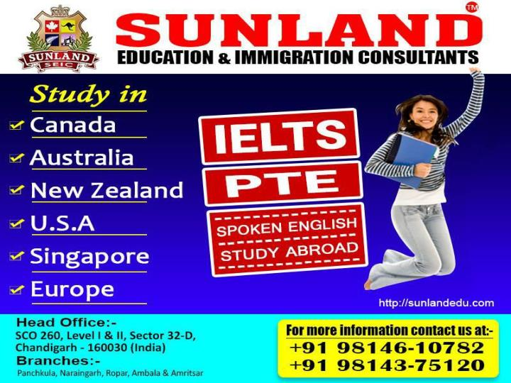 PPT - Immigration Consultants in Chandigarh | Sunland