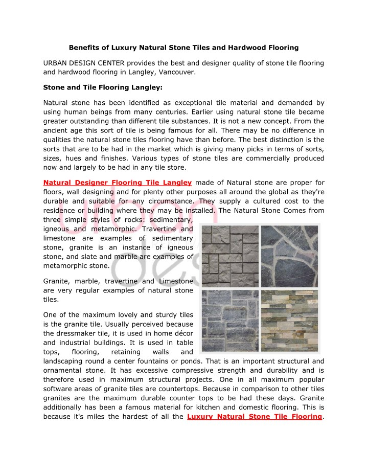 benefits of luxury natural stone tiles n.