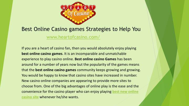 best online casino games strategies to help you n.