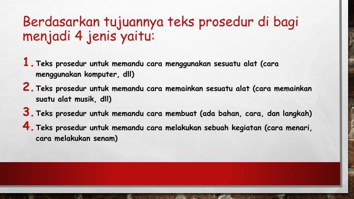 PPT - TEKS PROSEDUR KELAS 7 K13 PowerPoint Presentation ...