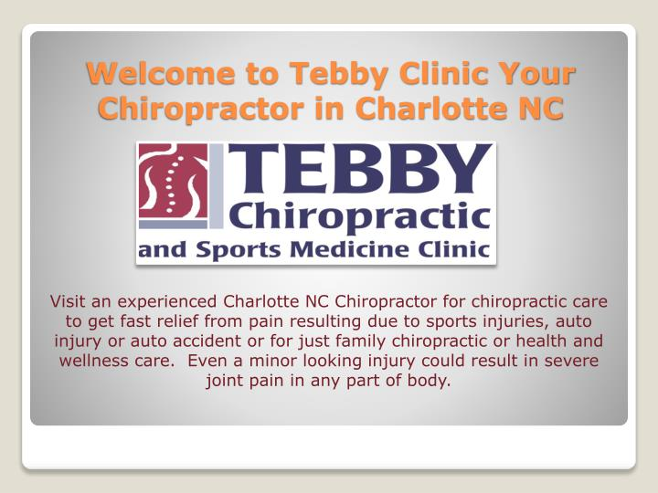 ppt best chiropractic sports medicine clinic in charlotte nc