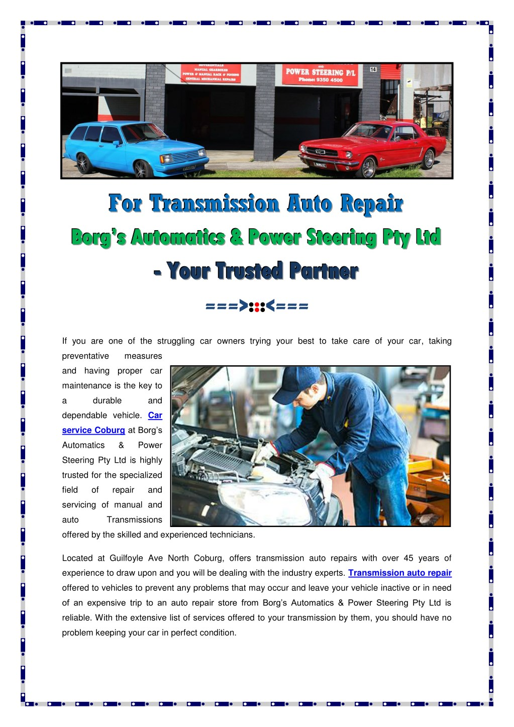 ppt transmission auto repair powerpoint presentation free download id 7740333 transmission auto repair powerpoint