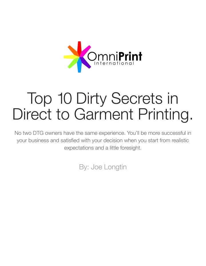 top 10 dirty secrets in direct to garment printing n.