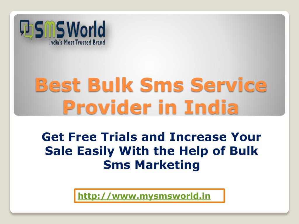 PPT - Best Bulk Sms Service Provider in India PowerPoint