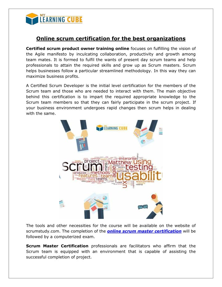 PPT - Scrum Master Certification [MyLearningCube] PowerPoint ...
