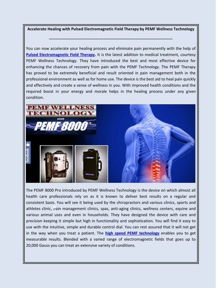 accelerate healing with pulsed electromagnetic n.