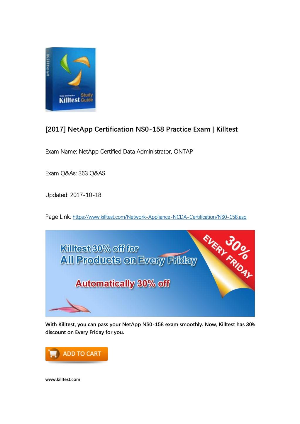 Ppt Netapp Ns0 158 Study Materials Powerpoint Presentation Id