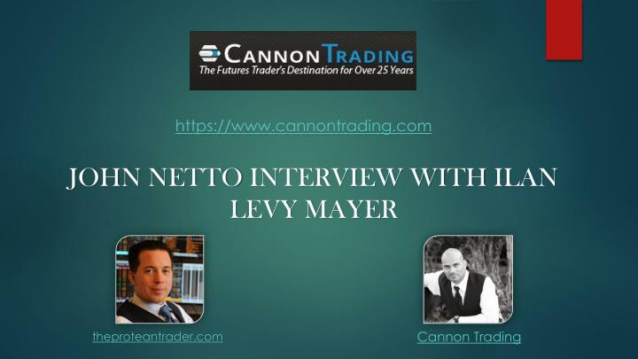 john netto interview with ilan levy mayer n.
