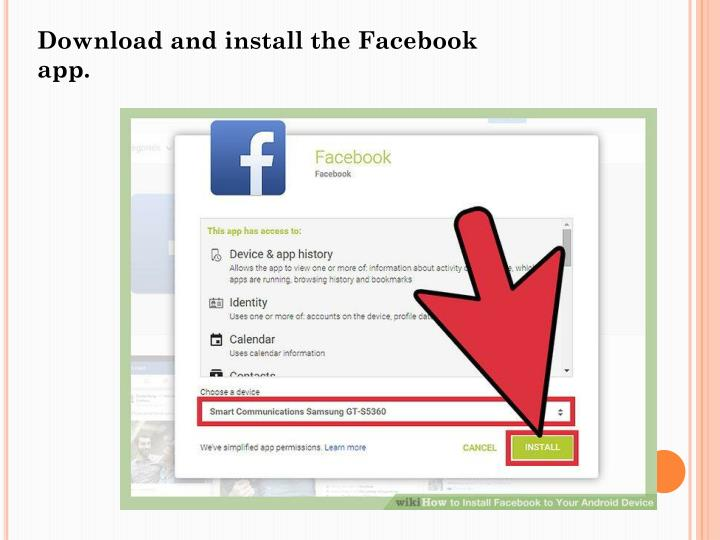 install facebook on laptop
