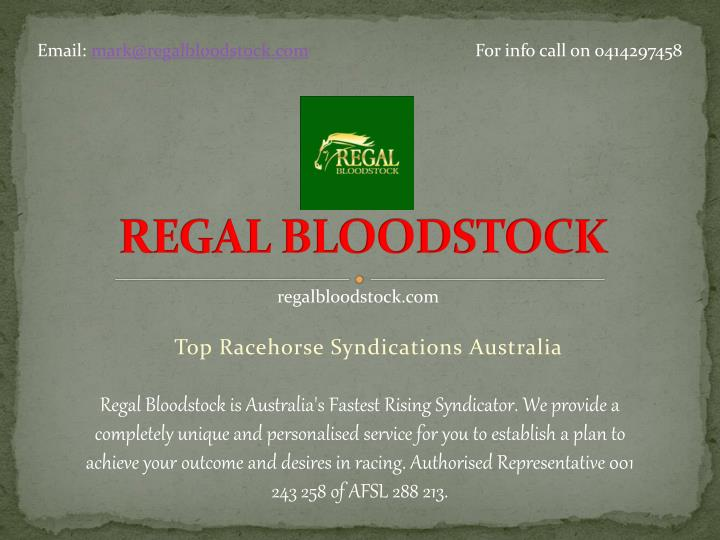 regal bloodstock n.
