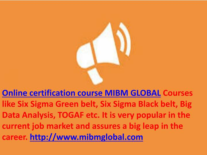 Ppt The Future Must Look For Suitable Online Certification Course