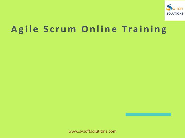 agile scrum online training n.