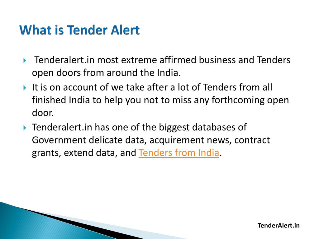 PPT - Tender information with TenderAlert in PowerPoint