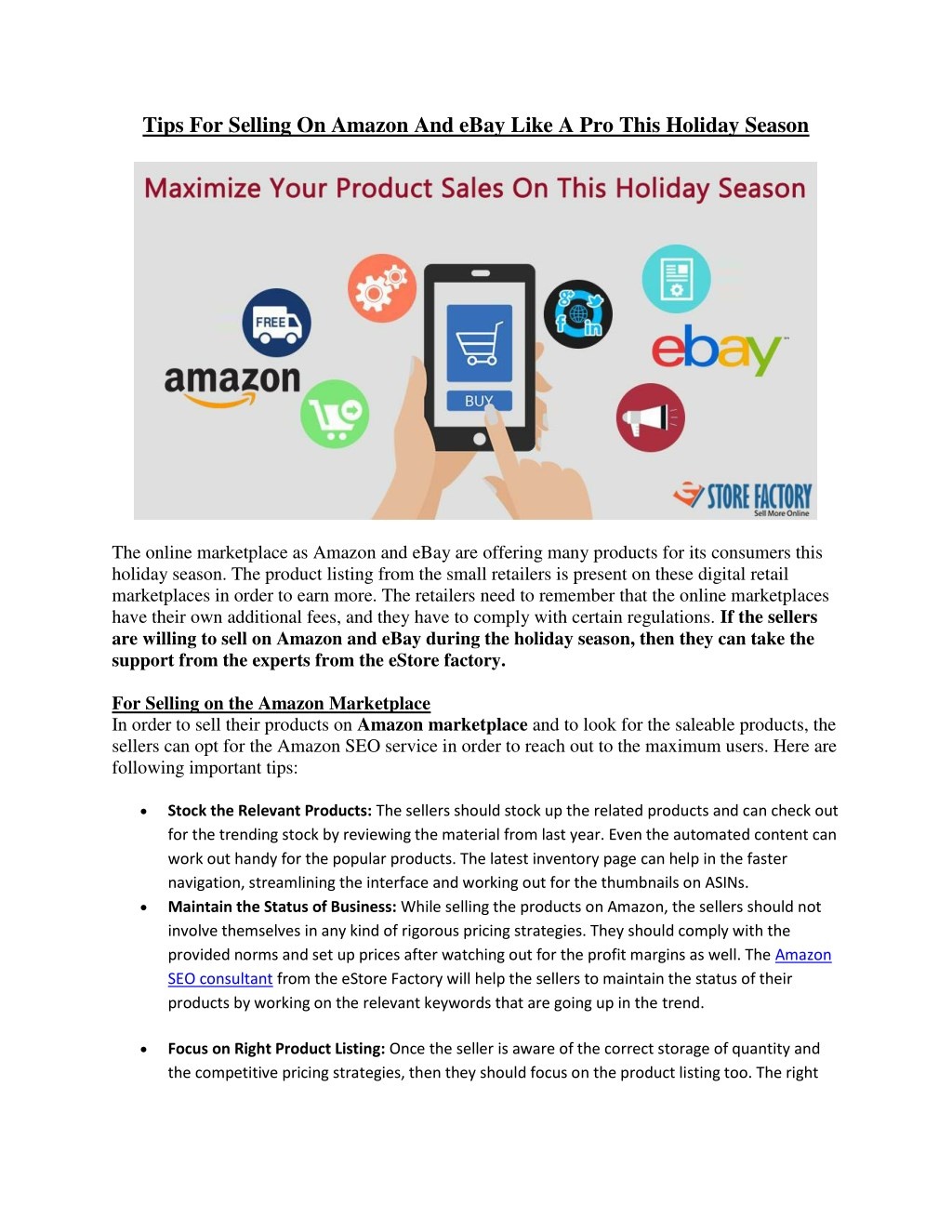 Ppt Tips For Selling On Amazon And Ebay Like A Pro This Holiday Season Powerpoint Presentation Id 7743560