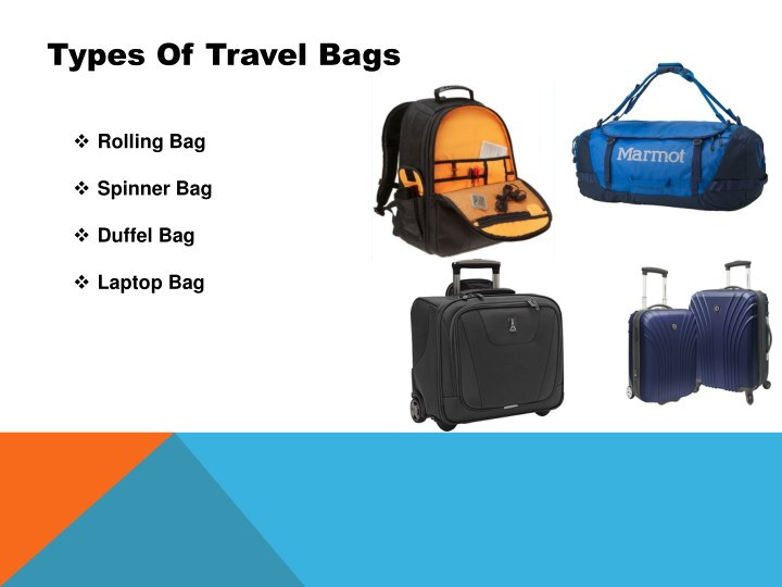 Ppt Different Types Of Bag And Its Features Online