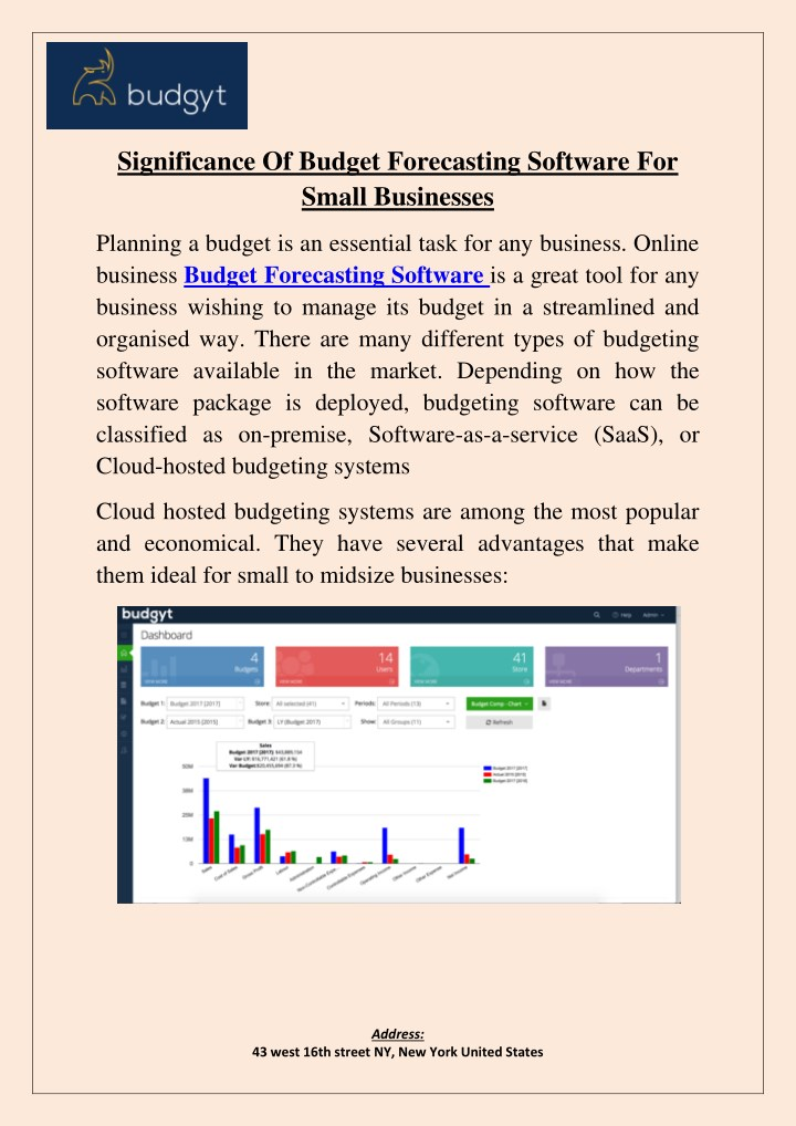 significance of budget forecasting software for small businesses