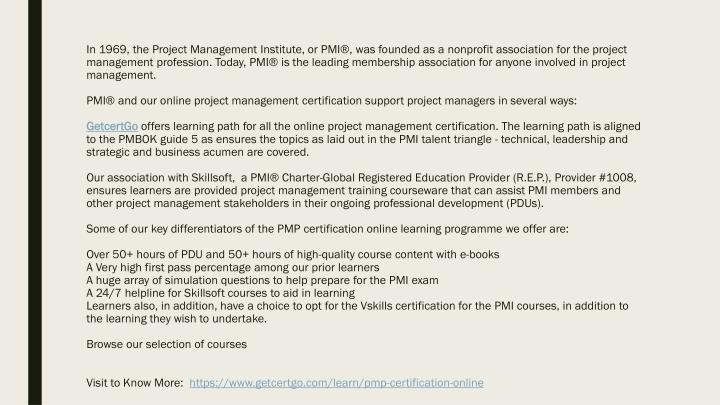 PPT - PMP Certification Training, PMP Certification Online ...
