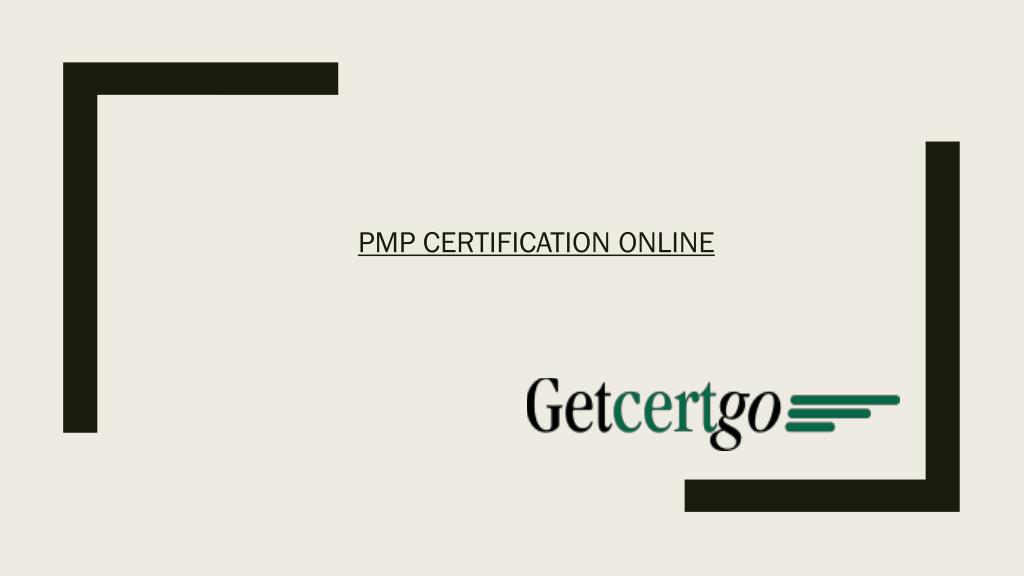 Ppt Pmp Certification Training Pmp Certification Online