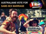 australians vote for same sex marriage