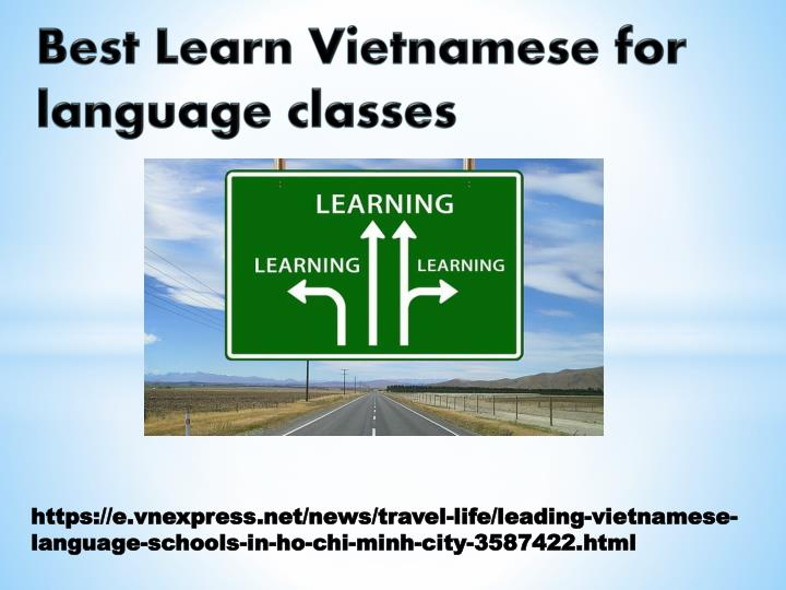 PPT - Best Learn Vietnamese for language classes PowerPoint