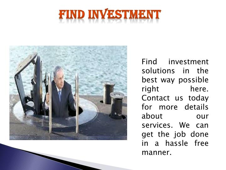 find investment n.