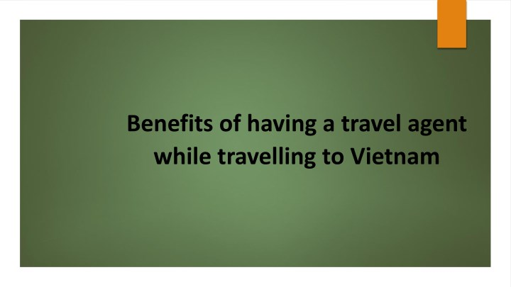 benefits of having a travel agent while n.