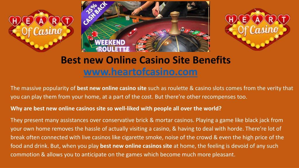 Ppt Best New Online Casino Site Benefits Powerpoint Presentation