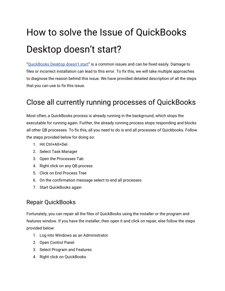 quickbooks installer keeps restarting