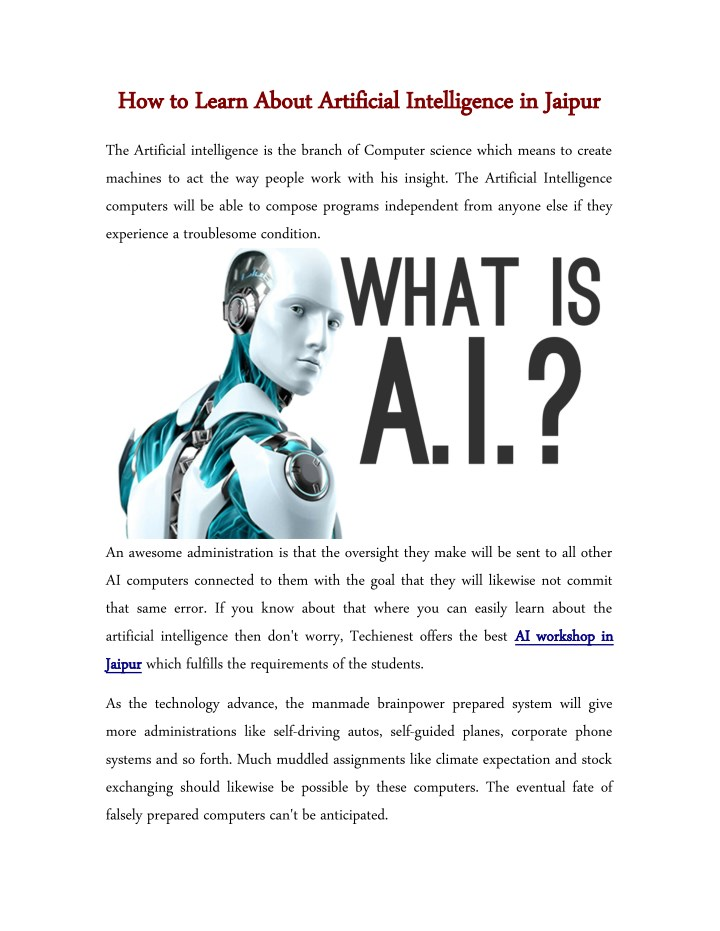 how to learn about artificial intelligence n.