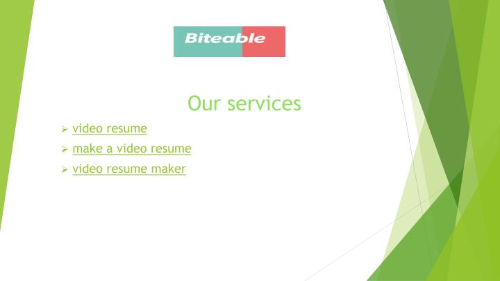 our services video resume make a video resume video resume maker n.