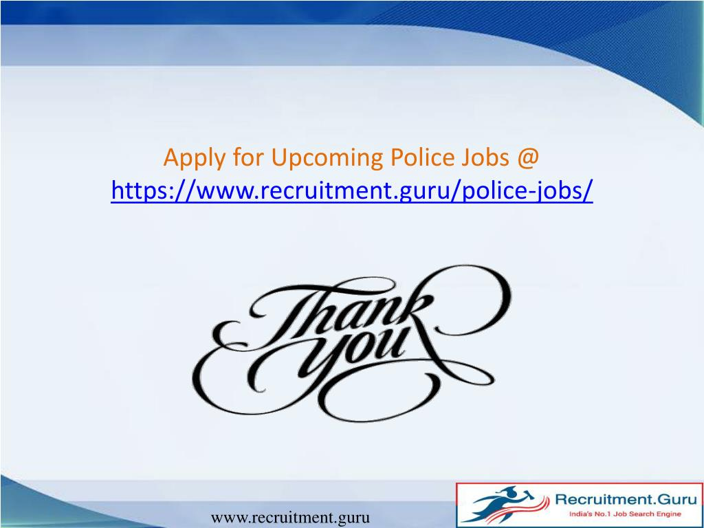 PPT - Importance of Police jobs PowerPoint Presentation - ID