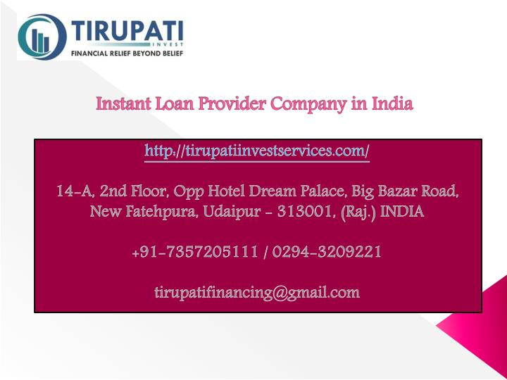 instant loan provider company in india n.