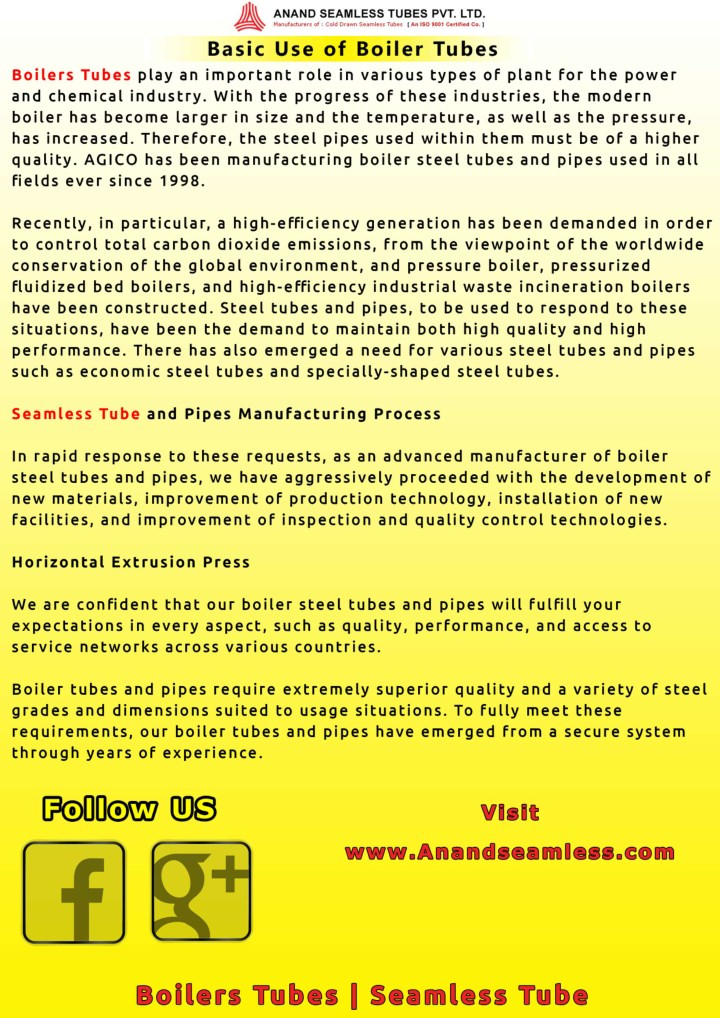 PPT - Use of Boiler Tubes PowerPoint Presentation - ID:7750062