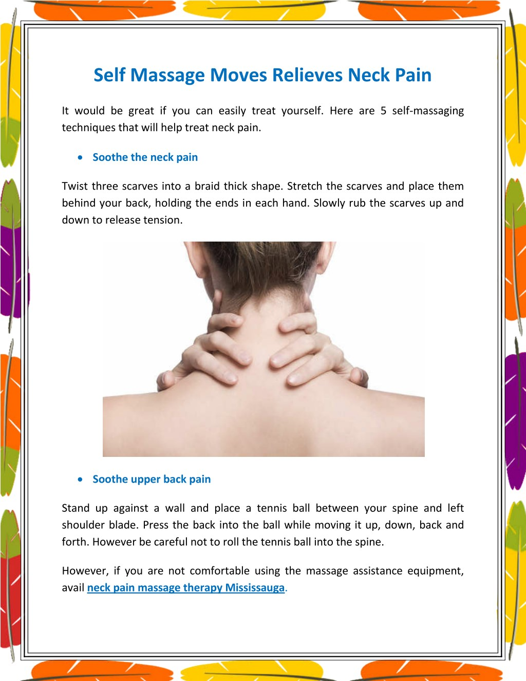 ppt - self massage moves relieves neck pain powerpoint presentation