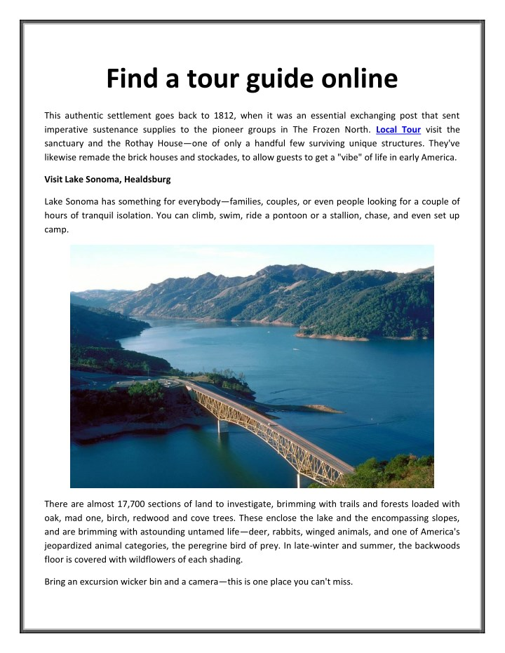 find a tour guide online n.