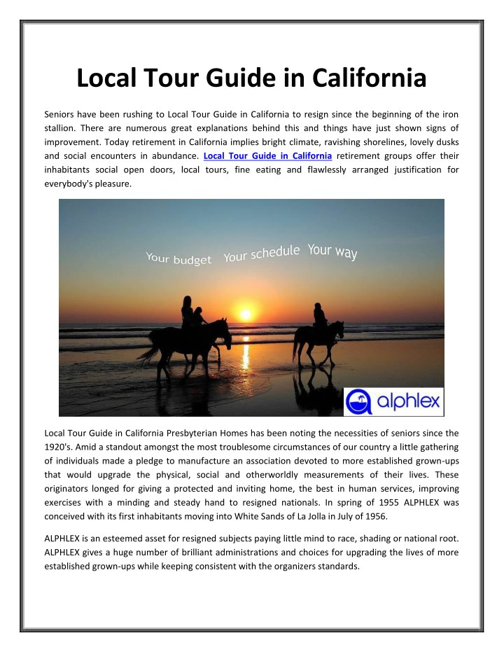Ppt local tour guide in california powerpoint presentation, free.