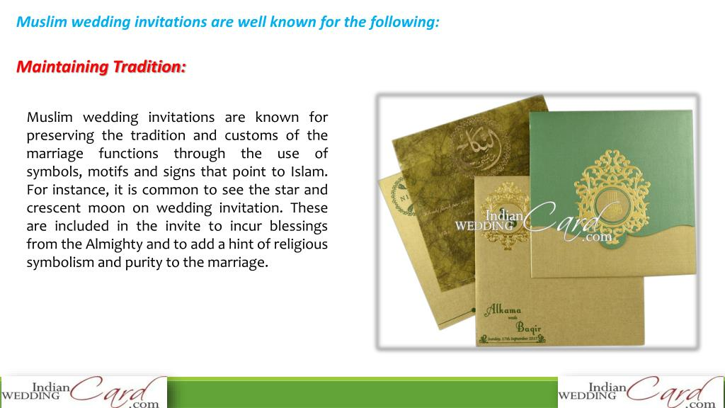 Ppt The Beauty And Sophistication Of Muslim Wedding Invitations