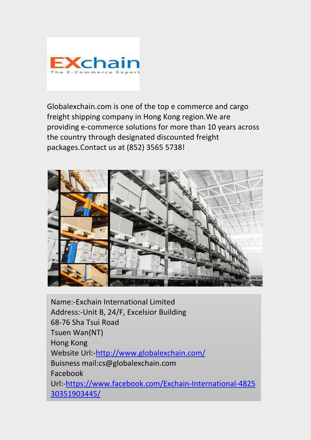 PPT - Top E commerce and Cargo Freight Shipping Company in