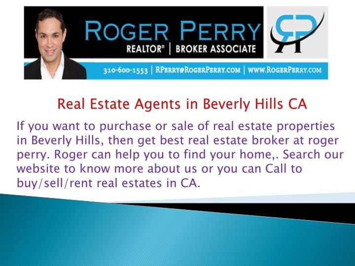 real estate agents in beverly hills ca n.