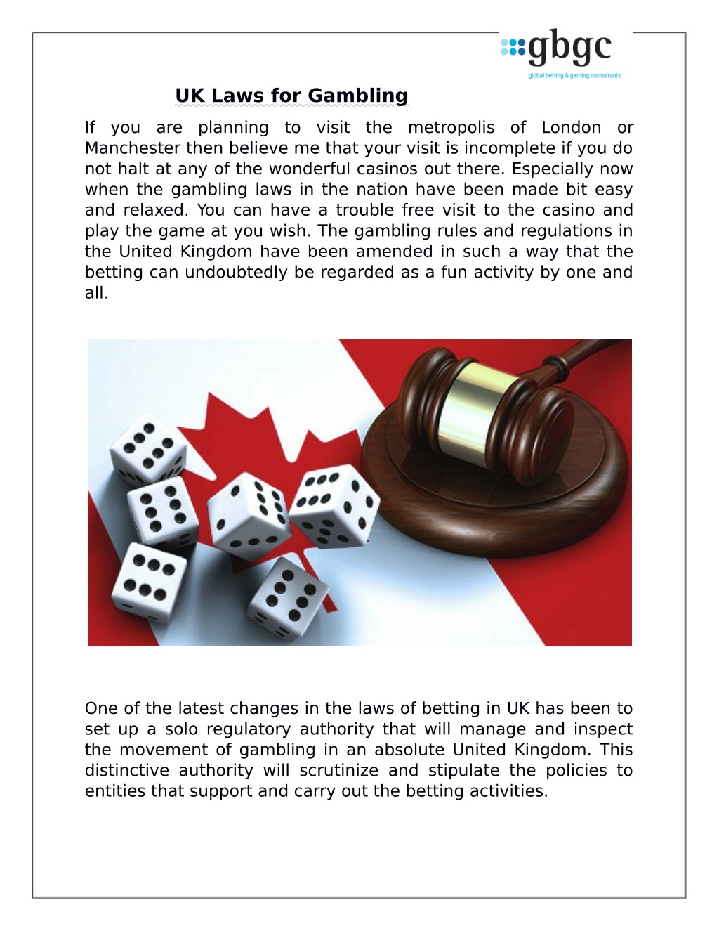 Gambling Laws Uk