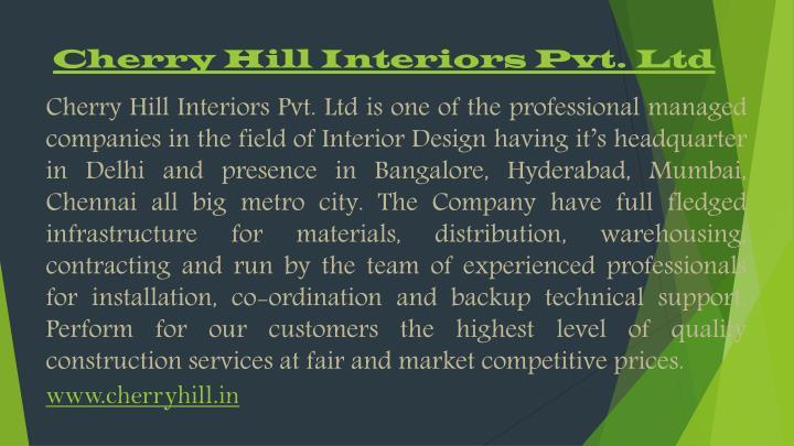 Cherry Hill Interiors Pvt. Ltd