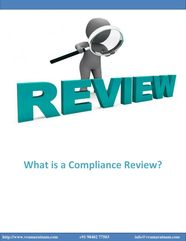 what is a compliance review n.