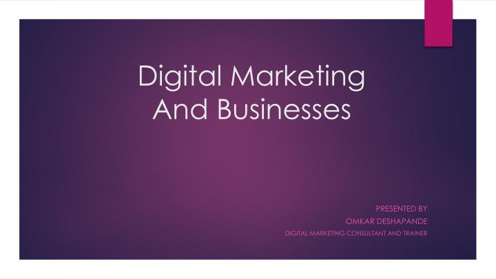 digital marketing and businesses n.