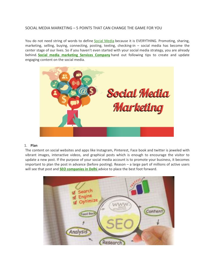 social media marketing 5 points that can change n.