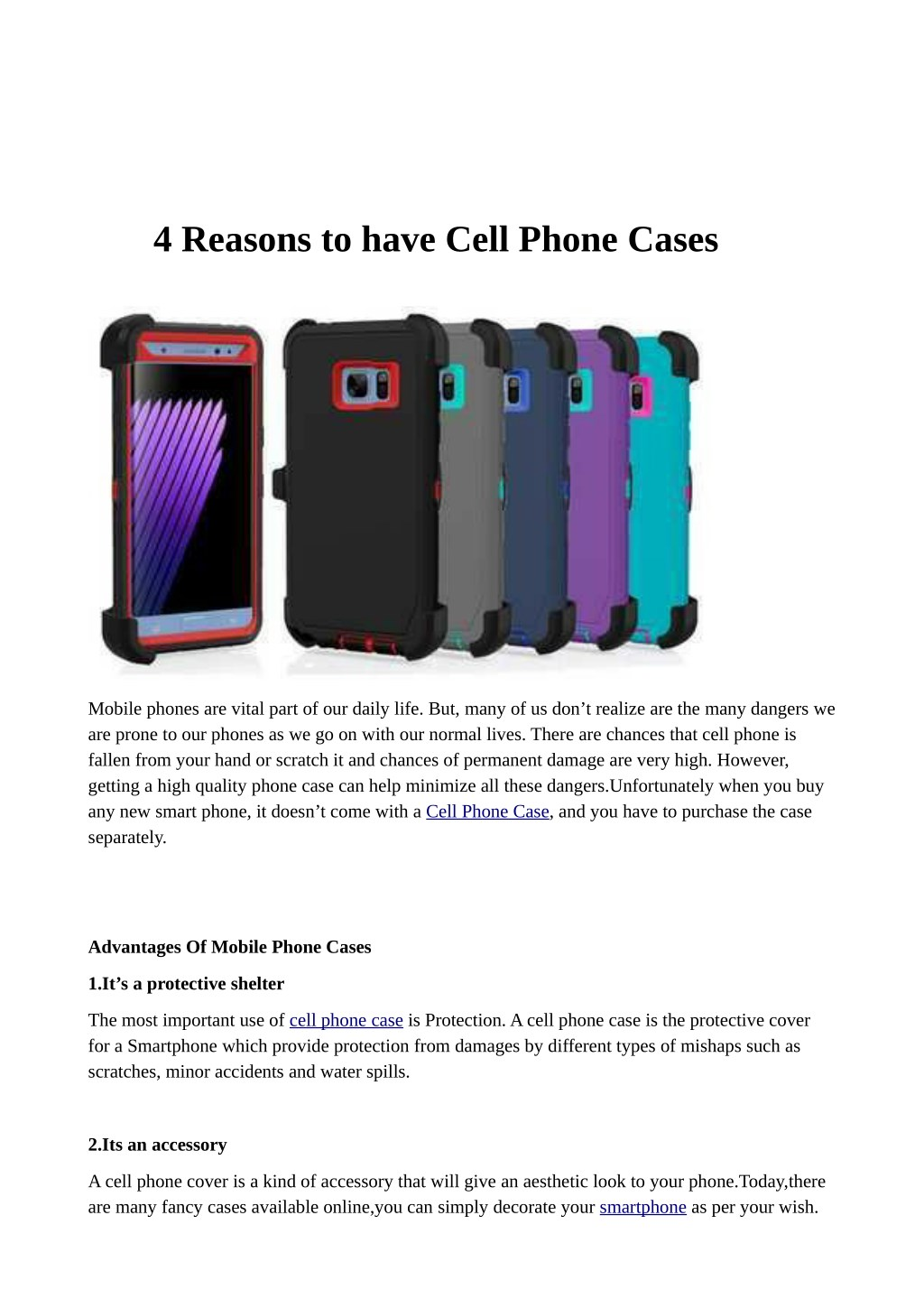 Ppt 4 Reasons To Have Cell Phone Cases Powerpoint Presentation Free Download Id 7754221