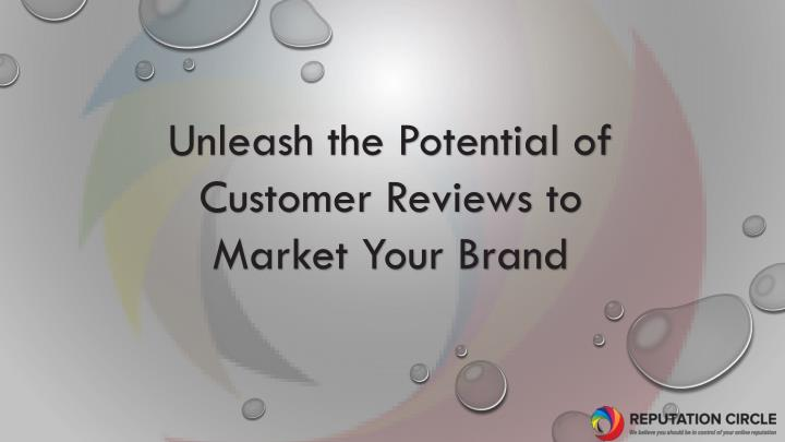 unleash the potential of customer reviews n.