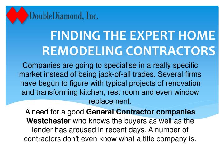 finding the expert home remodeling contractors n.