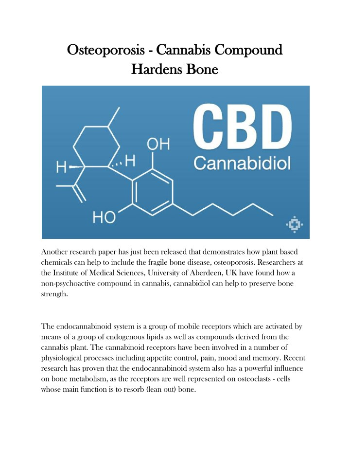 osteoporosis osteoporosis cannabis compound n.