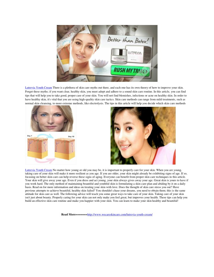 lutrevia youth cream there is a plethora of skin n.